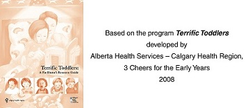 Terrific Toddlers Alberta Health Services Course Logo