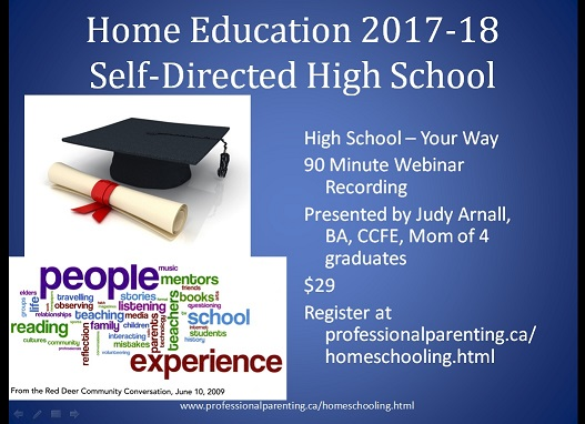 Homeschooling High School in Alberta 2017